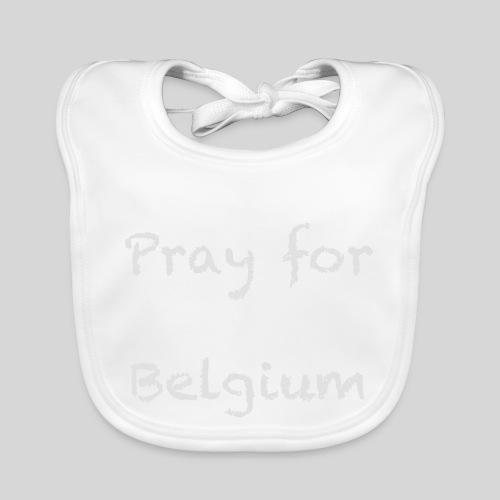 Pray for Belgium - Bavoir bio Bébé
