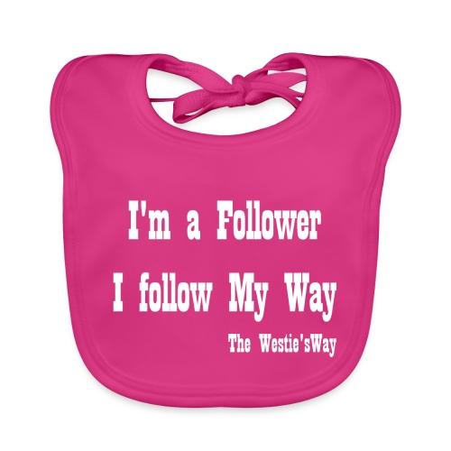 I follow My Way White - Ekologiczny śliniaczek