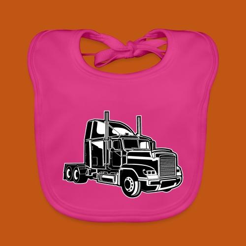 Truck / Lkw 02_schwarz weiß - Baby Bio-Lätzchen