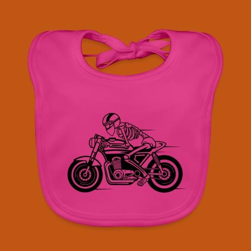 Cafe Racer Motorrad 05_schwarz - Baby Bio-Lätzchen
