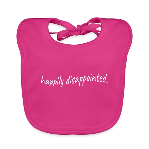 happily disappointed white - Organic Baby Bibs
