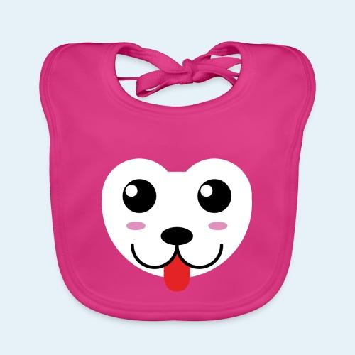 Husky perro bebé (baby husky dog) - Babero de algodón orgánico para bebés