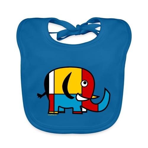 Mondrian Elephant - Organic Baby Bibs