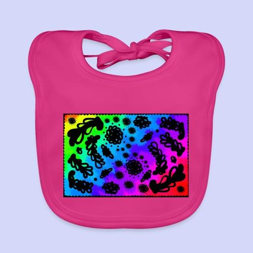 Rainbow doodle - Female shirt - Baby økologisk hagesmæk