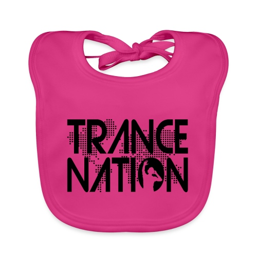 Trance Nation (Black) - Ekologisk babyhaklapp