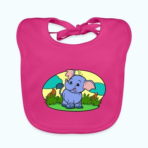 Tiny Elephant Art Collection - Baby Organic Bib