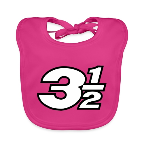 Three and a Half Logo - Baby Organic Bib