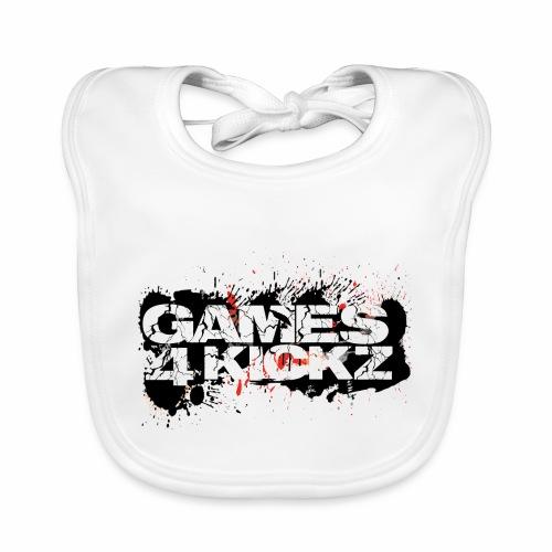 Games4Kickz Logo Splattered Background - Baby Organic Bib
