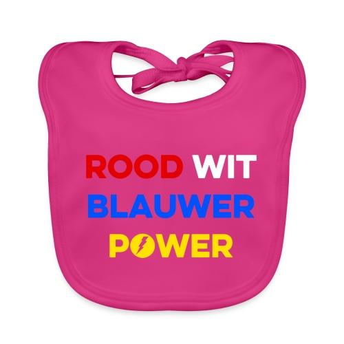 Rood Wit Blauwer Power - Bio-slabbetje voor baby's