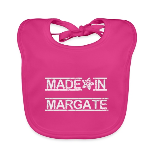 Made in Margate - White - Baby Organic Bib