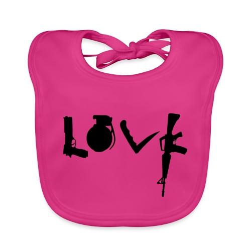 Love weapons - Baby Organic Bib