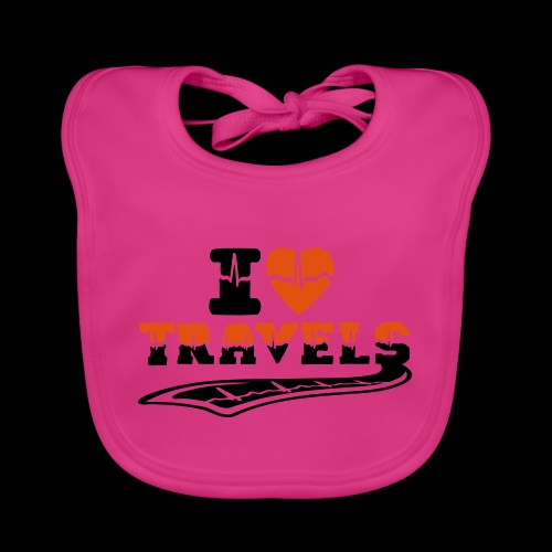 i love travels surprises 2 col - Baby Organic Bib