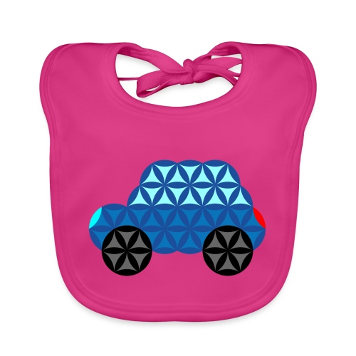 The Car Of Life - M01, Sacred Shapes, Blue/286 - Organic Baby Bibs