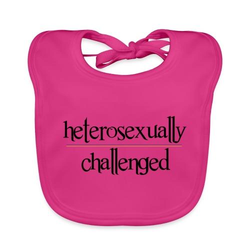 heterosexually challenged - Organic Baby Bibs