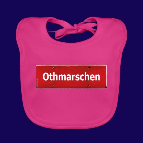 HAMBURG Othmarschen: Das rote Antik Ortsschild - Baby Bio-Lätzchen