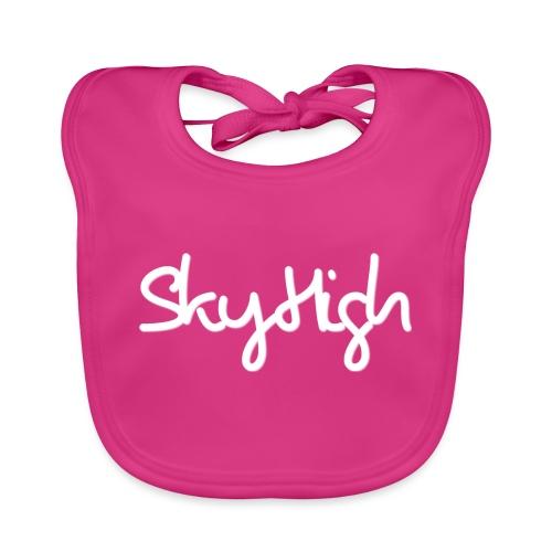 SkyHigh - Men's Premium T-Shirt - White Lettering - Baby Organic Bib