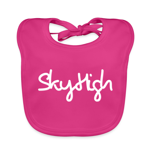 SkyHigh - Snapback - (Printed) White Letters - Baby Organic Bib