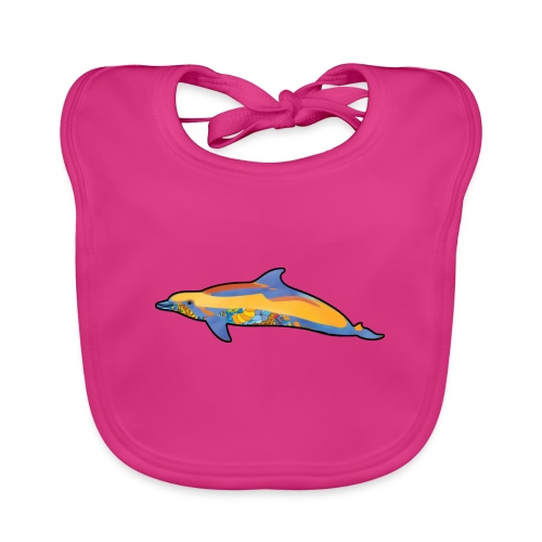 Colorful dolphin - Baby Organic Bib