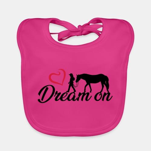 Dream on - Halte an Deinen Träumen fest - Baby Bio-Lätzchen