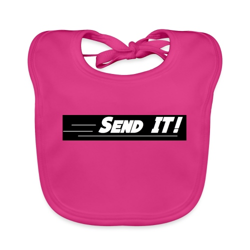 send it logo black and white - Baby Organic Bib