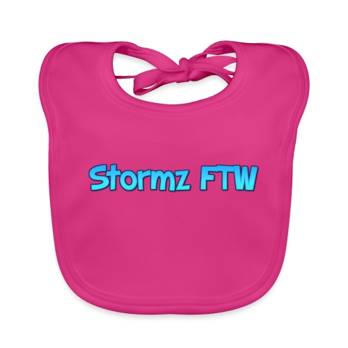 Stormz FTW blue and white fade - Organic Baby Bibs