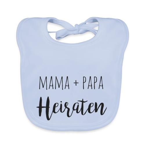 mama und papa heiraten - Baby Bio-Lätzchen