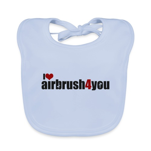 I Love airbrush4you - Baby Bio-Lätzchen