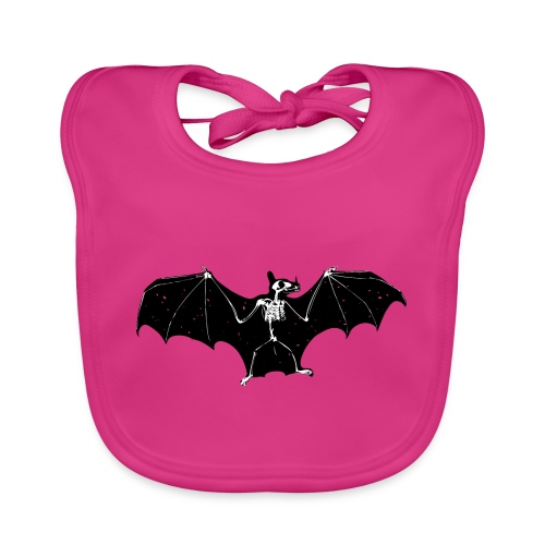 Bat skeleton #1 - Baby Organic Bib