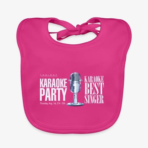 Karaoke party - Babero ecológico bebé