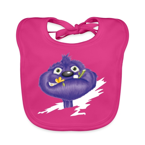 das lila Monster - Baby Bio-Lätzchen
