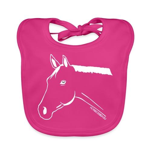 Pony Pferdekopf Reitbekleidung - Baby Bio-Lätzchen