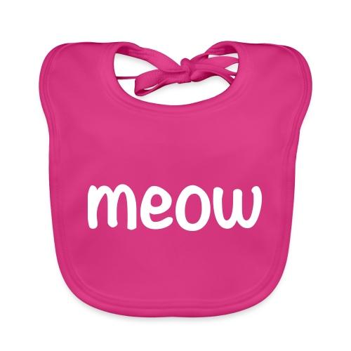Meow Blanco - Babero ecológico bebé