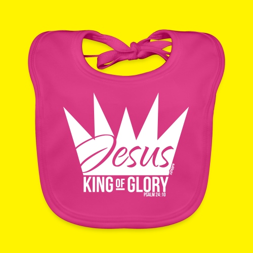 JESUS KING OF GLORY // Psalm 24:10 (WHITE) - Organic Baby Bibs