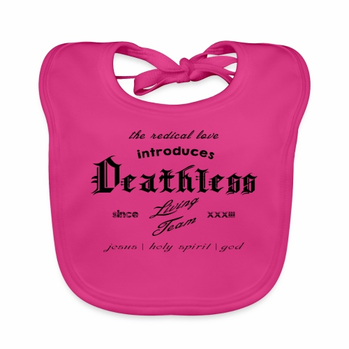 deathless living team schwarz - Baby Bio-Lätzchen
