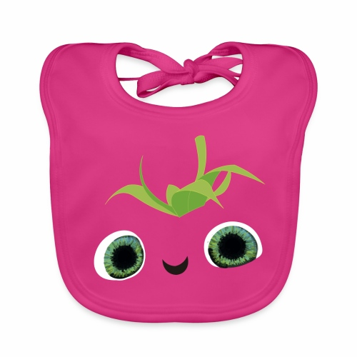fresa tierna - Babero de algodón orgánico para bebés