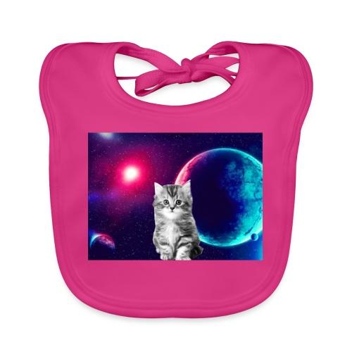 Cute cat in space - Vauvan luomuruokalappu