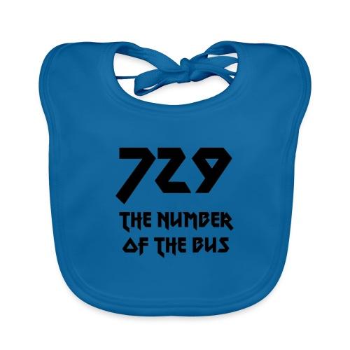 729 grande nero - Bavaglino ecologico per neonato