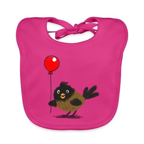 vogeltje met ballon - Bio-slabbetje voor baby's
