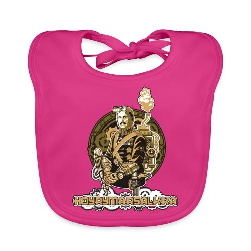 Höyrymarsalkkan perinteinen t-paita - Vauvan luomuruokalappu