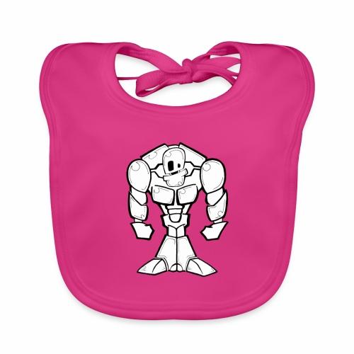 ROBOT Musculoso - Babero de algodón orgánico para bebés