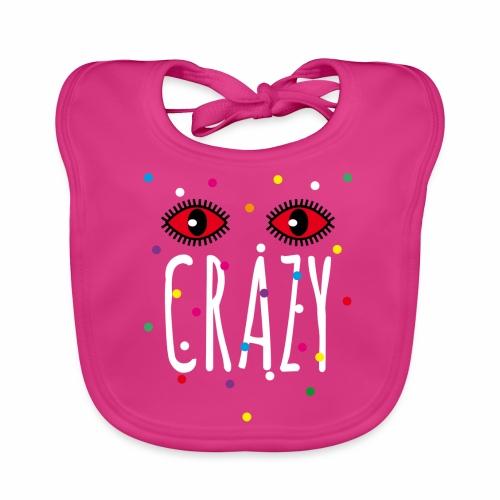 02 Konfetti Augen Crazy Spruch - Baby Bio-Lätzchen
