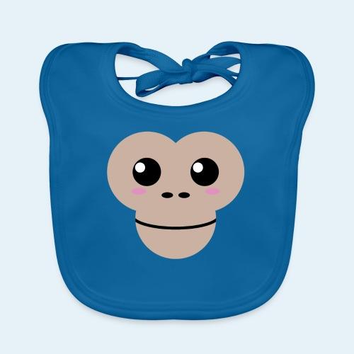 Mono bebé (Cachorros) - Babero de algodón orgánico para bebés