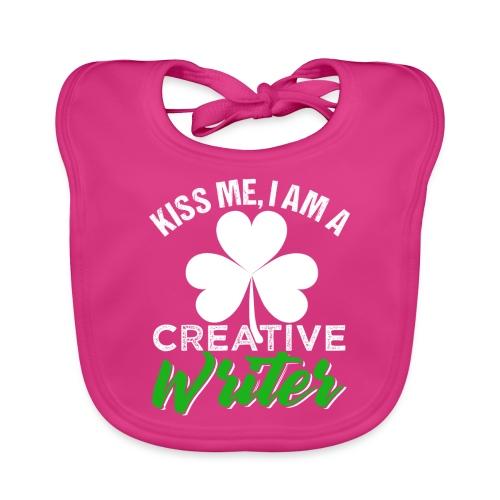 Kiss Me I Am A Creative Writer - Baby Bio-Lätzchen