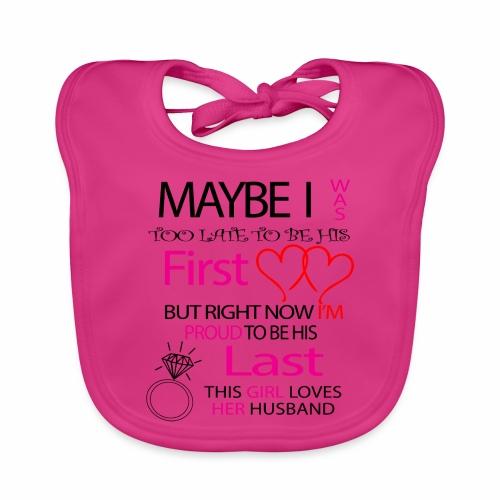 I love my husband - gift idea - Organic Baby Bibs