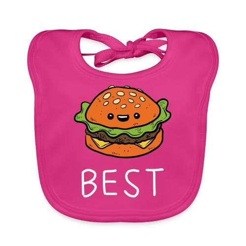 Beste Friends Burger und Pommes Partnerlook - Baby Bio-Lätzchen