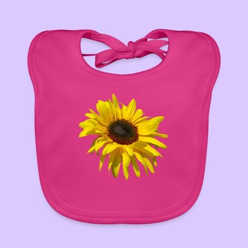 blühende Sonnenblume, Sonnenblumen, Blumen, Blüten - Baby Bio-Lätzchen