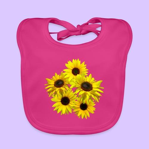 Sonnenblumenstrauss, Sonnenblume, Sonnenblumen - Baby Bio-Lätzchen