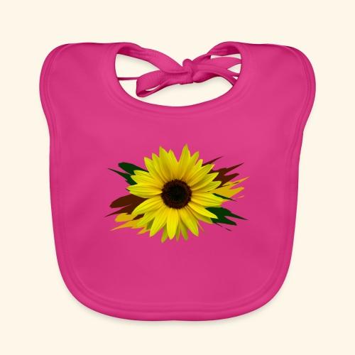 Sonnenblume, Sonnenblumen, Blume, floral, blumig - Baby Bio-Lätzchen