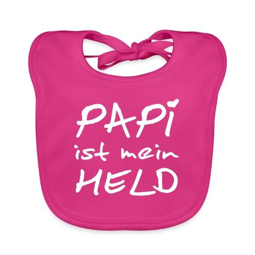 Papi ist mein Held mit Herz - Baby Bio-Lätzchen