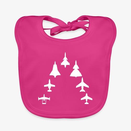 Swedish Air Force - Jet Fighter Generations - Ekologisk babyhaklapp